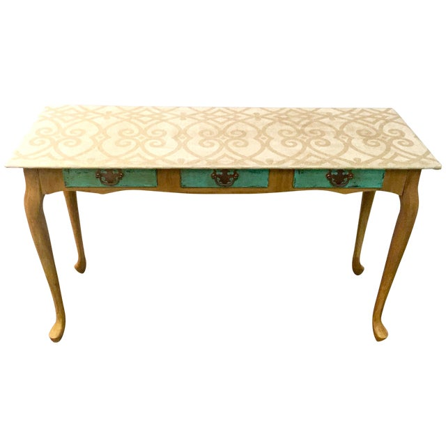 Hand-Painted Sofa Table - Image 1 of 7