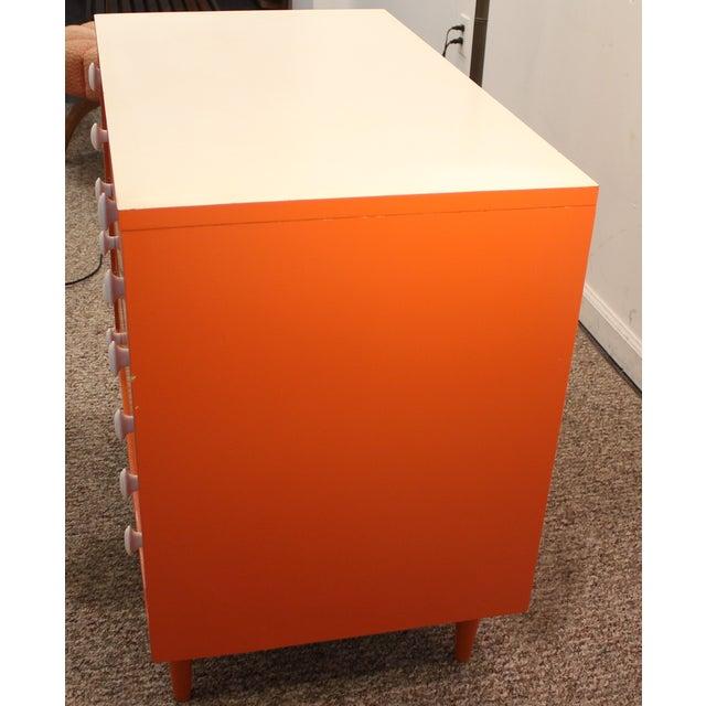 Atomic Orange Laminate Dresser - Image 7 of 11