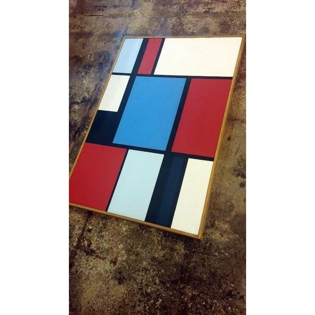 Florence Arnold MidCentury Hard Edge Oil Painting - Image 6 of 9