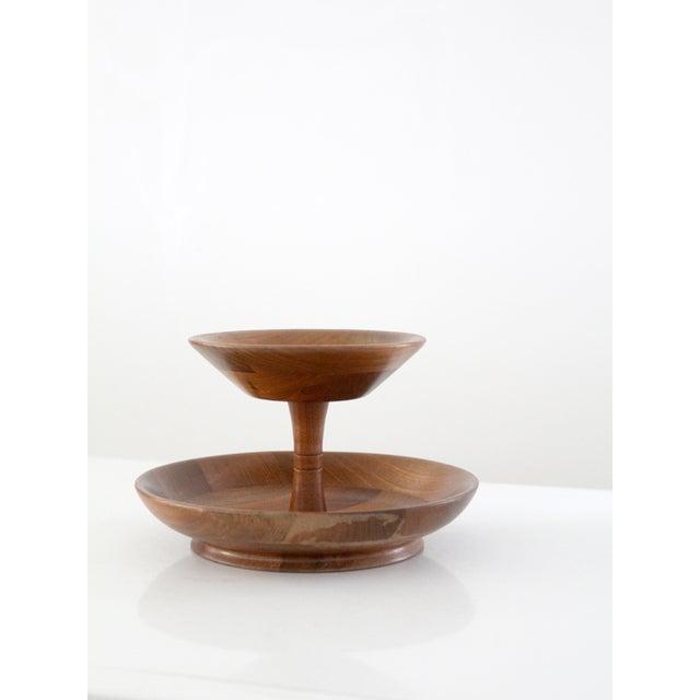 Mid-Century Tiered Walnut Tray - Image 3 of 6