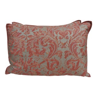 Pair of Lucrezia Patterned Linen Back Fortuny Pillows