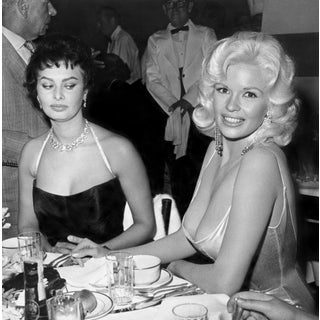 1957 Jayne Mansfield & Sophia Loren Photo by Joe Shere