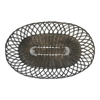 Vintage French Silver Wire Basket