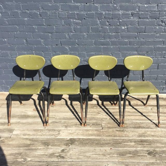 Mid-Century Metal Kids Chairs - Set of 4 - Image 2 of 5