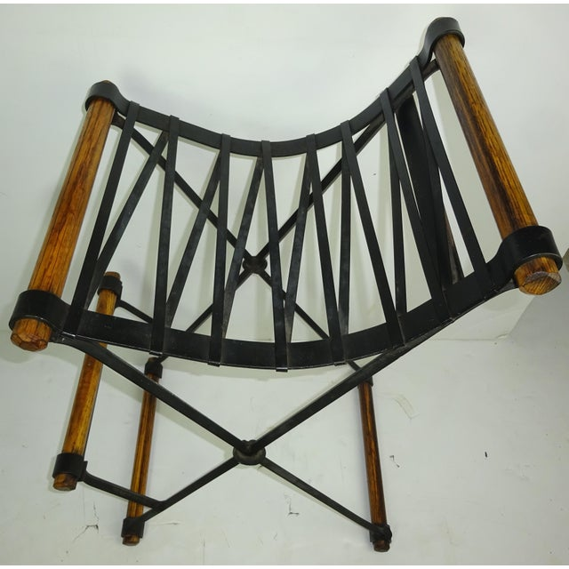Iron and Oak Bar Stool by Cleo Baldon for Terra - Image 7 of 7