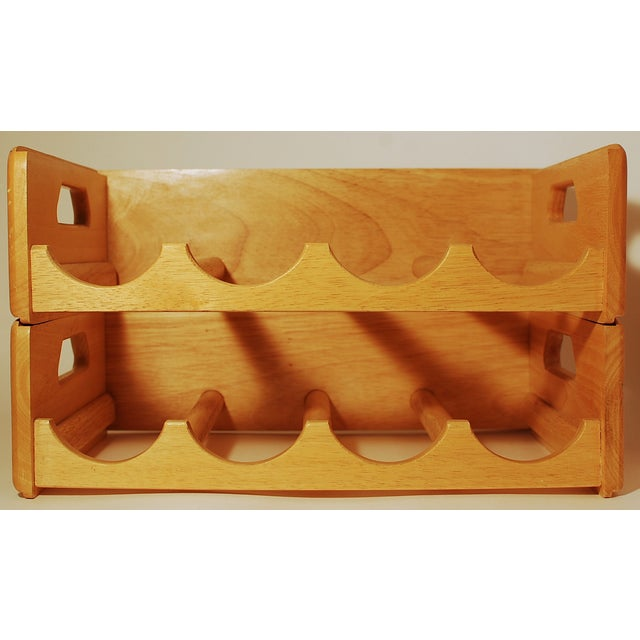 Maple Nesting Wine Carriers - A Pair - Image 2 of 6