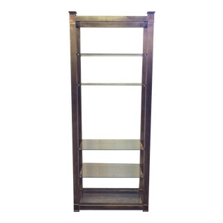 Federal Style Brass & Glass Etagere