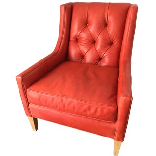 Anthropologie Premium Leather Club Chair