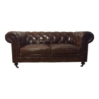 Chesterfield Sofa Brown Leather