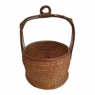 Chinese Bucket Handled Basket