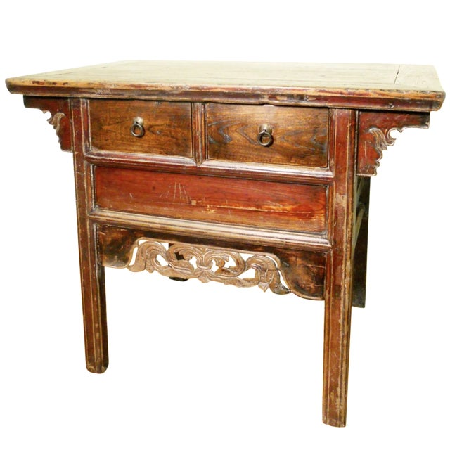 """Antique Ming """"Butterfly"""" Coffer, Camphor Wood - Image 1 of 9"""