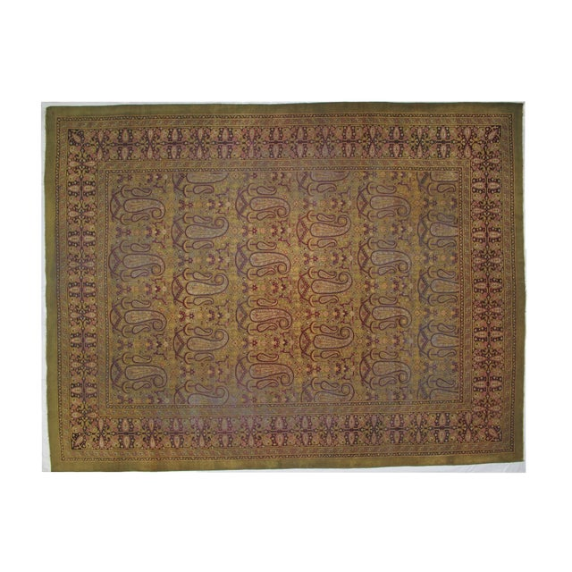 Image of Leon Banilivi Antique Amritzar Carpet - 9' X 12'