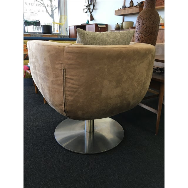 Triumph Microsuede Tulip Chairs - A Pair - Image 7 of 8