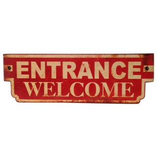 """Vintage Style Metal """"Welcome Sign"""""""