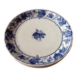 Blue and White Porcelain Dinner Plates - Set of 4