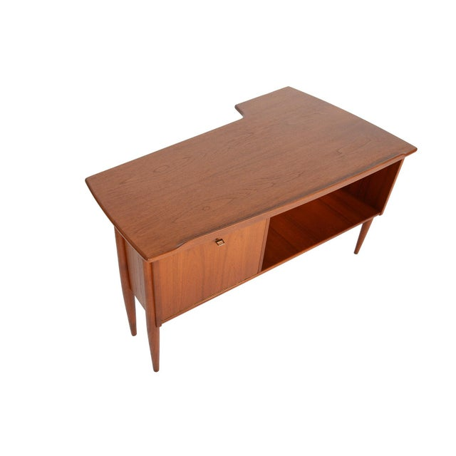 Goran Strand for Lelangs Mobelfabrik Teak Boomerang Desk - Image 5 of 9