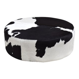 Cowhide Cocktail Footed Ottoman