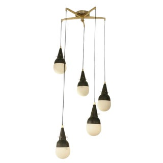 Five Pendant Fixture In The Manner Of Stilnovo