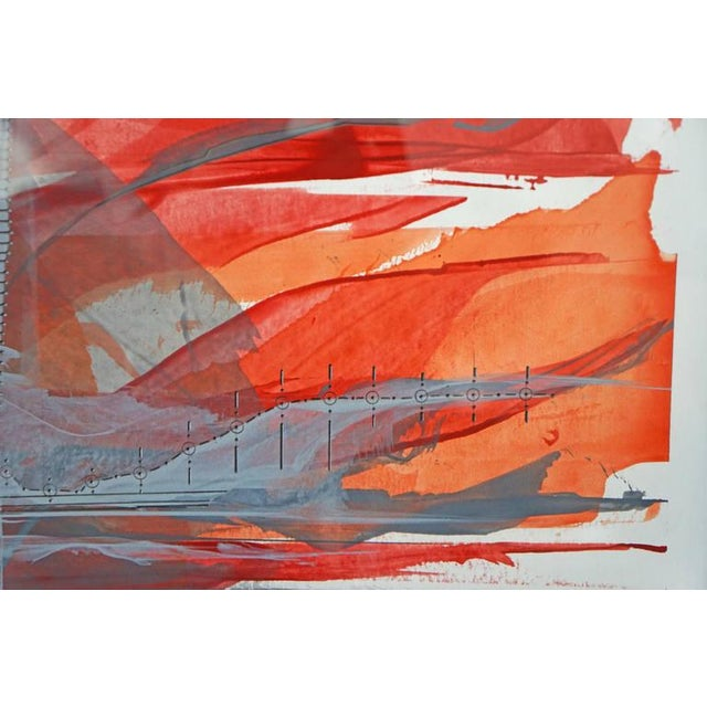 """IR-1534 Red Fire"" Painting - Image 6 of 7"