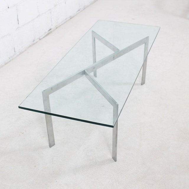 Glass & Chrome Geometric Coffee Table