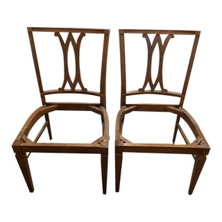 Wood Dining Chair Frames - A Pair