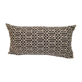 Black and White Lattice Print Throw Pillow