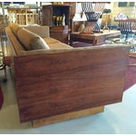 Image of Milo Baughman Style Rosewood Encased Sofa