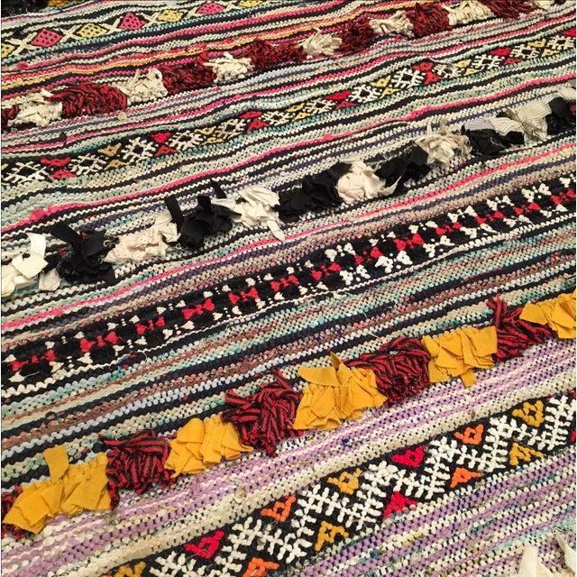 "Image of Vintage Moroccan Boucherouite Rug - 4'8"" X 6'8"""