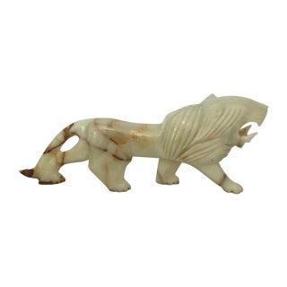 Carved Onyx Lion Figure