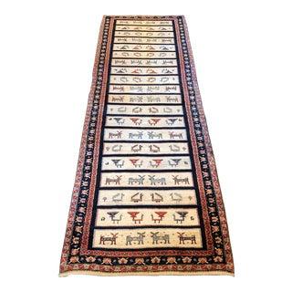 """Hand Woven Persian Wool Runner - 3' x 9'7"""""""