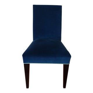 Mitchell Gold Royal Blue Velvet Desk Chair