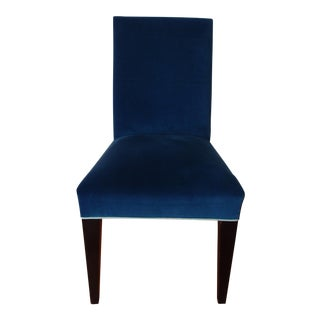 Mitchell Gold Royal Blue Velvet Chair