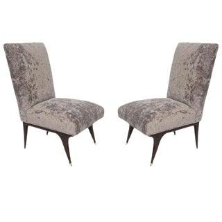 Pair of 1950's Italian Slipper Chairs