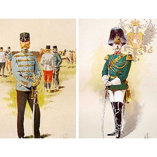 Ceremonial Military Prints, 1893 - A Pair