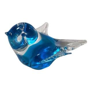 Murano Style Blue Bird Figurine