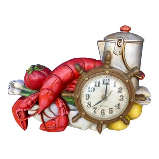 Vintage Lobster Kitchen Clock