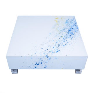 Reverse Painted Lucite Coffee Table