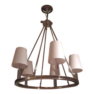 Contemporary/Traditional 5 Light Chandelier With Lucite Detail