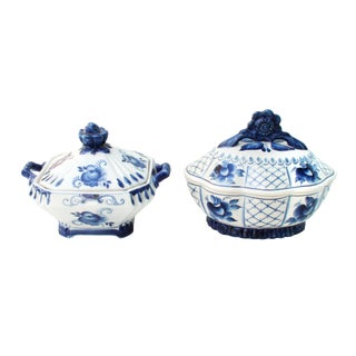 Russian Porcelain Tureens- Set of 2