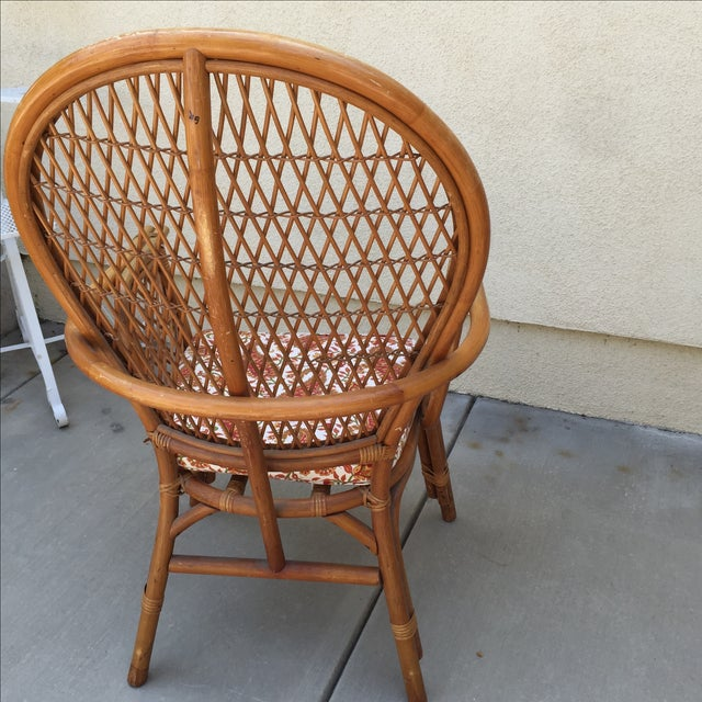 Vintage Rattan Bamboo Chair - Image 10 of 11