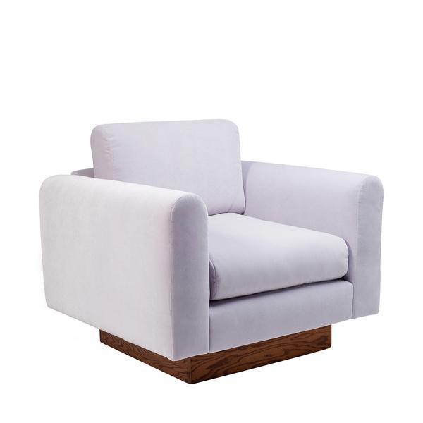 Harvey Probber Lavender Velvet Club Chairs - Pair - Image 2 of 10