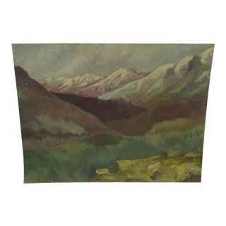 Vintage Original Landscape Painting by Gloria Van Balen