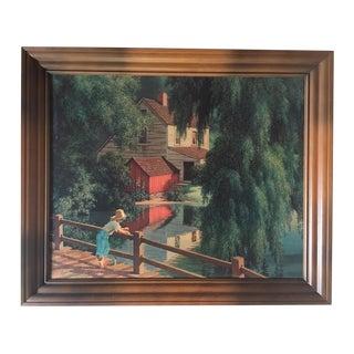"""Vintage Paul Detlefsen Landscape Print """"Good Old Summertime"""""""