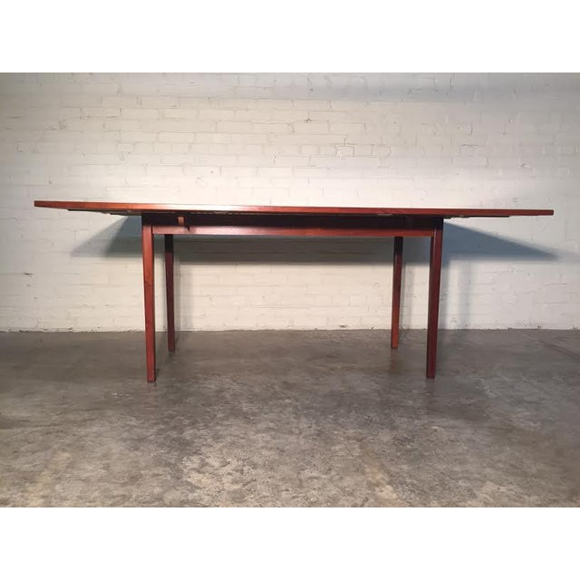 Walnut Mid-Century Danish Modern Dining Table - Image 7 of 7
