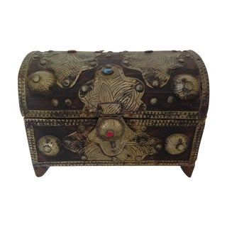 Moroccan Vanity Chest with Amber & Turquoise
