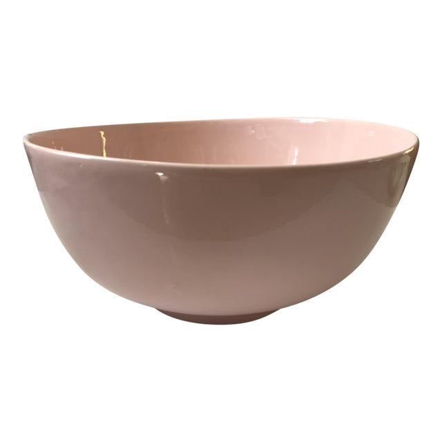 Haeger Pink Pottery Bowl - Image 1 of 9