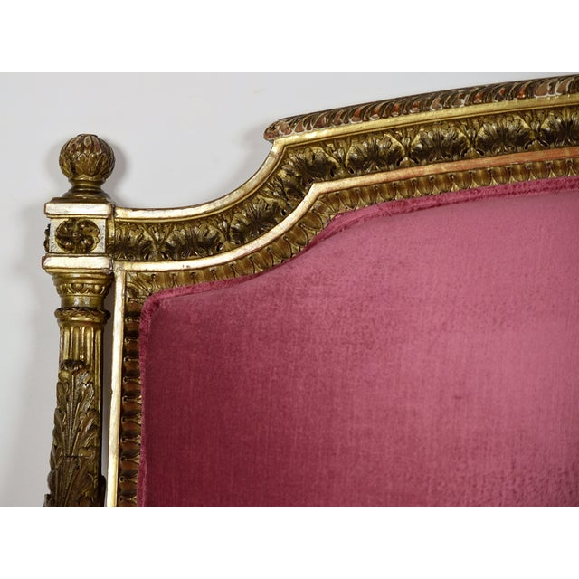 French 19th Century Louis XVI Giltwood Settee - Image 7 of 10