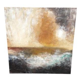 Misty Sunrise Acrylic Painting