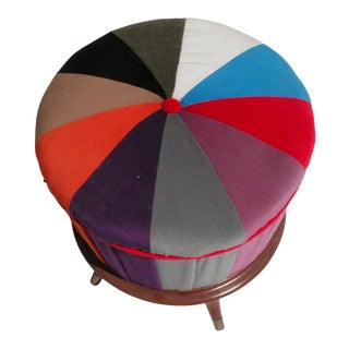 Mid-Century Multicolored Tuffet