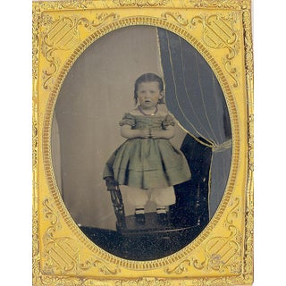Antique 1/2 Plate Civil War Tin Type Photograph